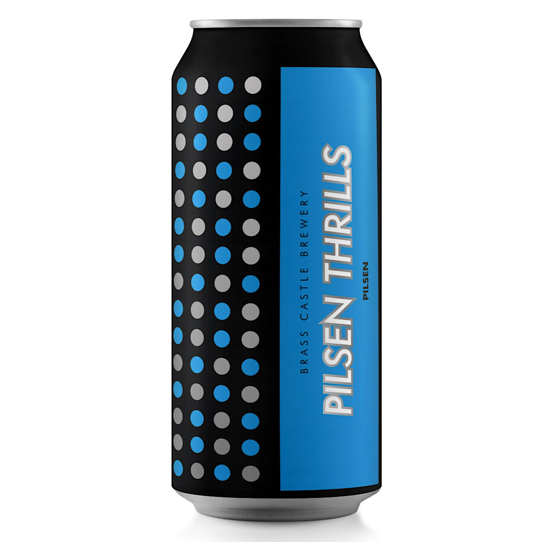 Pilsen Thrills - Gluten Free 3.9% 440ml Brass Castle Brewey