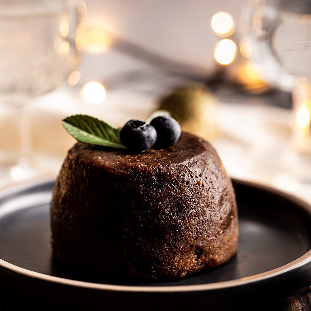 Luxury Mulled Gin Christmas Pudding Slab