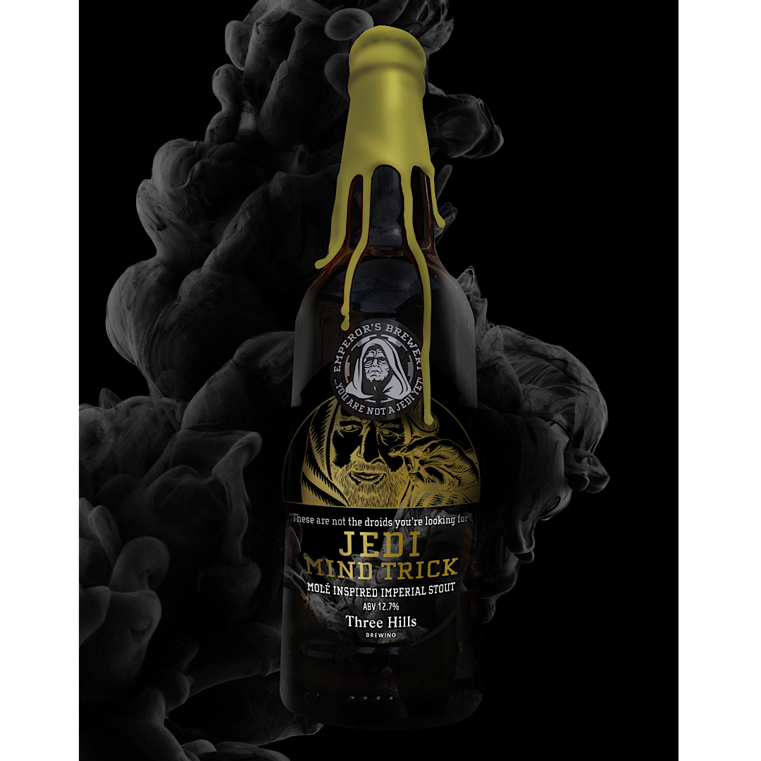 JEDI MIND TRICK - Mole Inspired Imperial Stout 12.7% 330ml Three Hills Brewing x Emperor's Brewery
