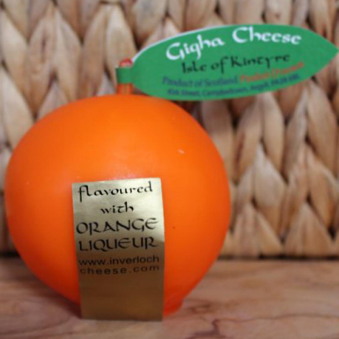 Gigha Fruit Orange Cheese 200g Scottish Mature Cheddar Isle of Kintyre Cheese