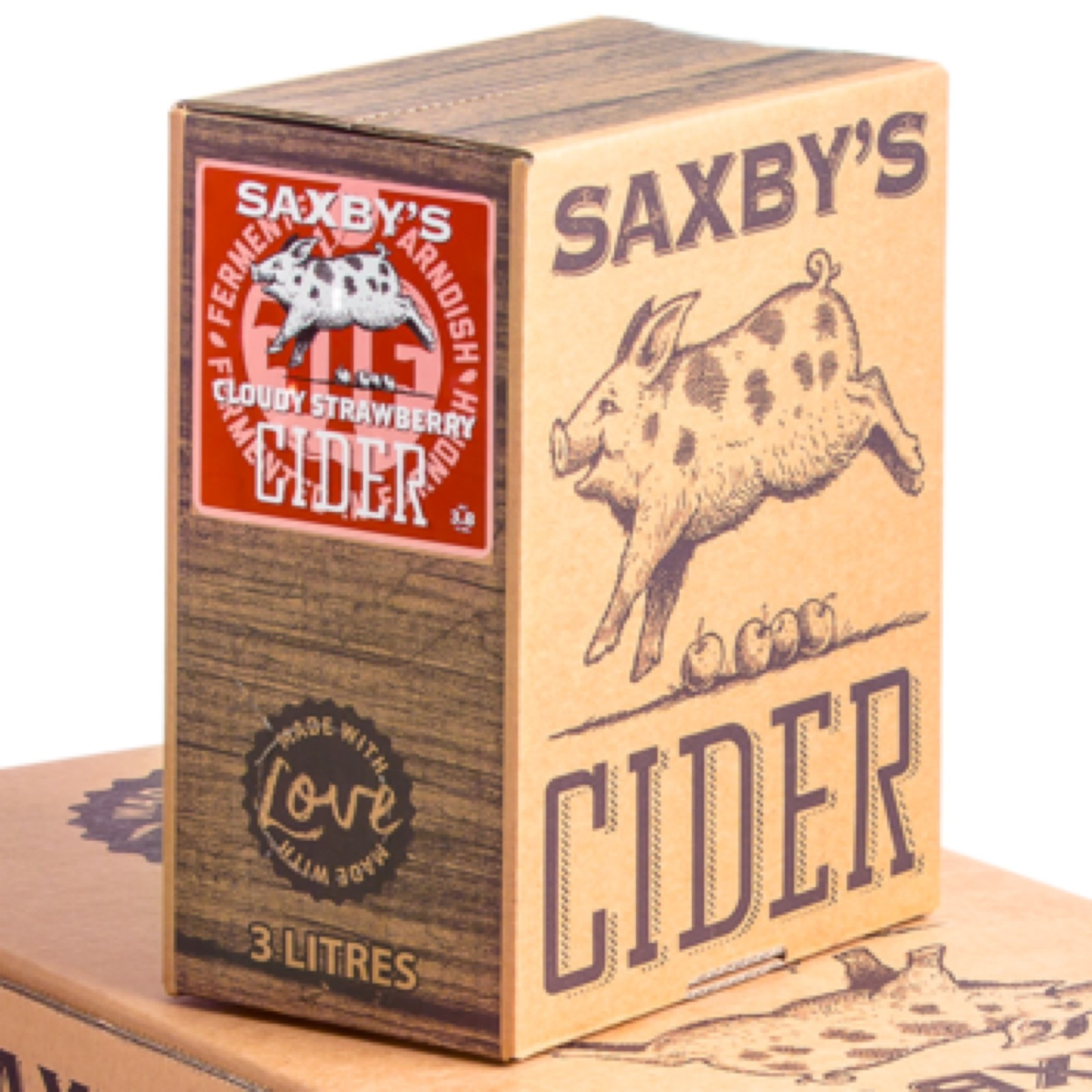 Saxby's Strawberry Cider 3.8% 500ml & 3litre Bag In The Box