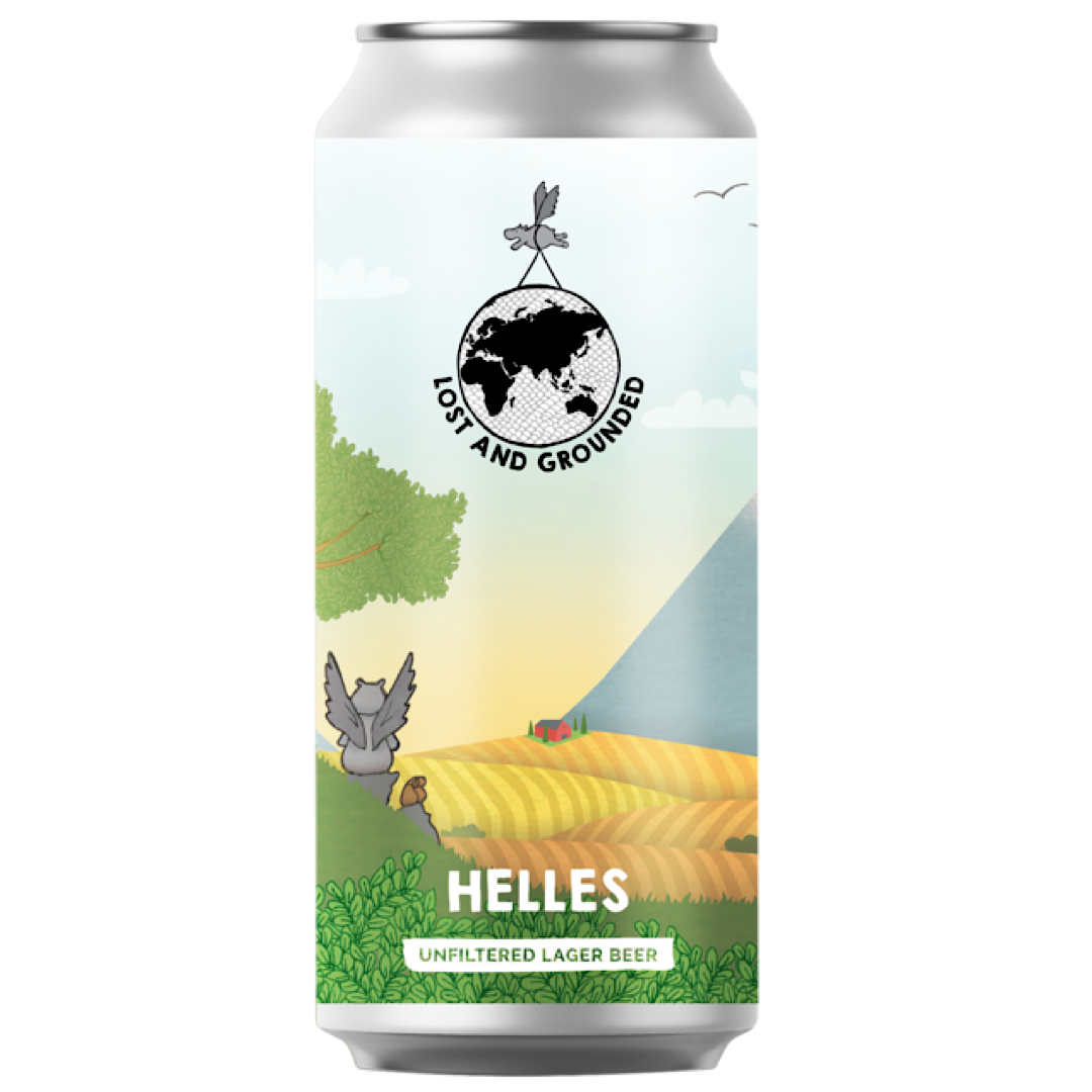 Helles - Unfiltered Lager Beer 4.4% 440ml Lost And Grounded Brewers