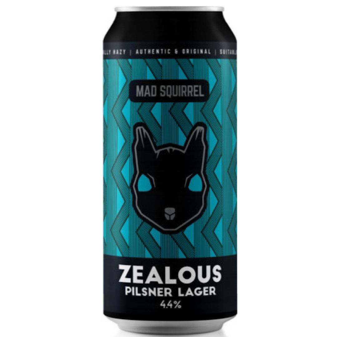 Zealous - Pilsner Lager 4.4% 440ml Mad Squirrel Brewery