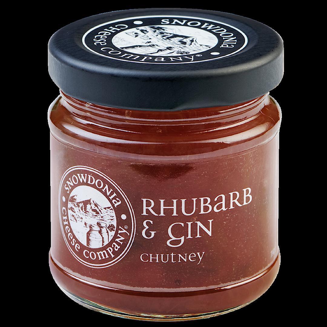 Rhubarb & Gin Chutney 114g Snowdonia Cheese Company