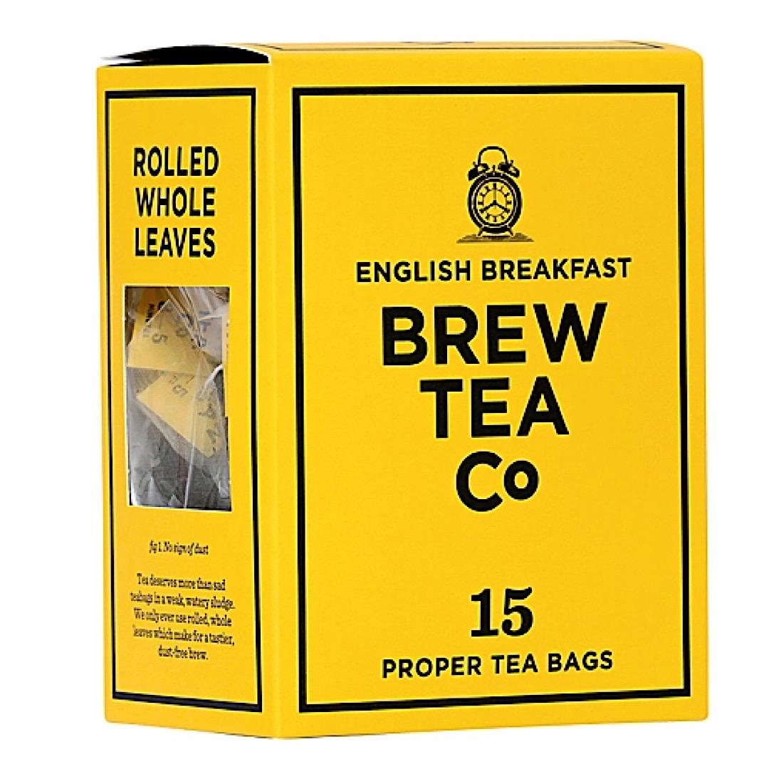 English Breakfast PROPER TEA BAGS 15 Brew Tea Co