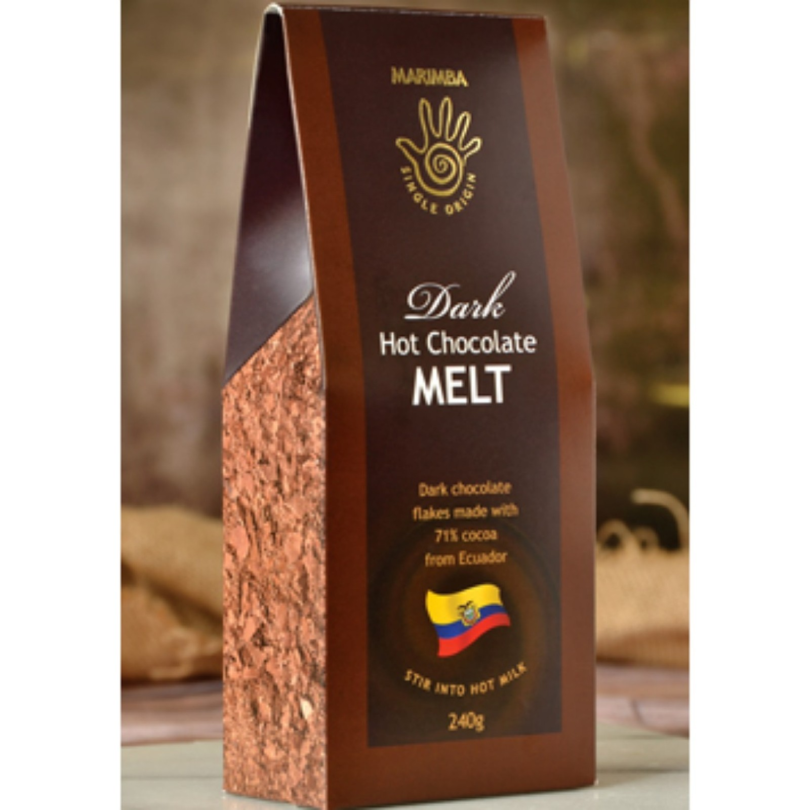 Ecuador Dark 71% Hot Chocolate Melt carton - 240g