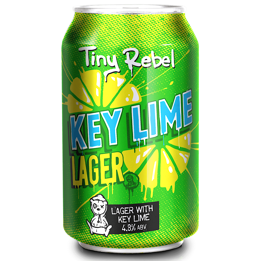Key Lime Lager 4.8% 330ml Tiny Rebel Brewing