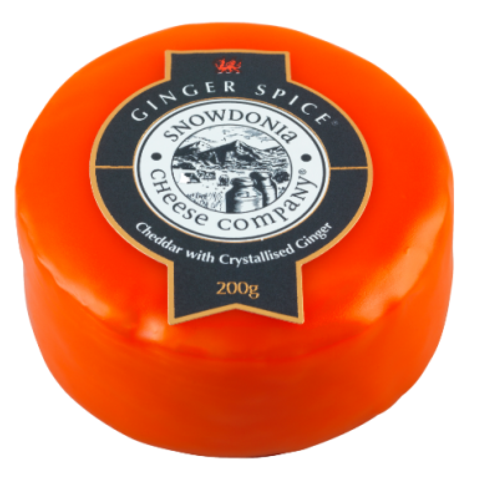 Ginger Spice 200g Cheddar with Crystallised Ginger Snowdonia Cheese Co