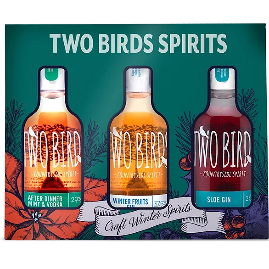 Two Birds Spirits - Craft Spirits Set - After Dinner Mint Vodka, Winter Fruits Gin and Sloe Gin