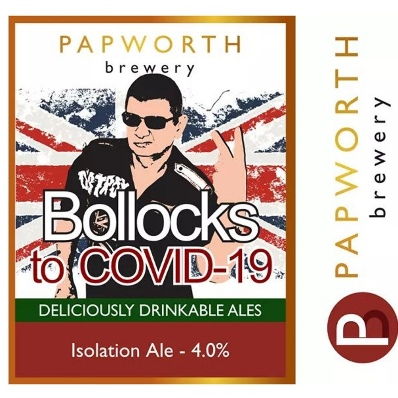 Bollocks to COVID-19 Isolation Ale 4% 500ml Papworth Brewery
