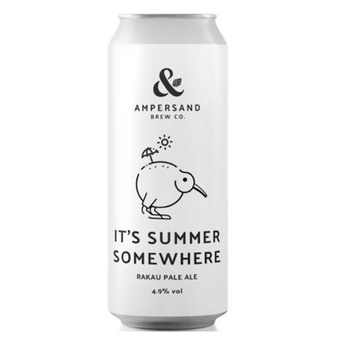 IT'S SUMMER SOMEWHERE - Rakau Pale Ale 4.9% 440ml Ampersand Brew Co
