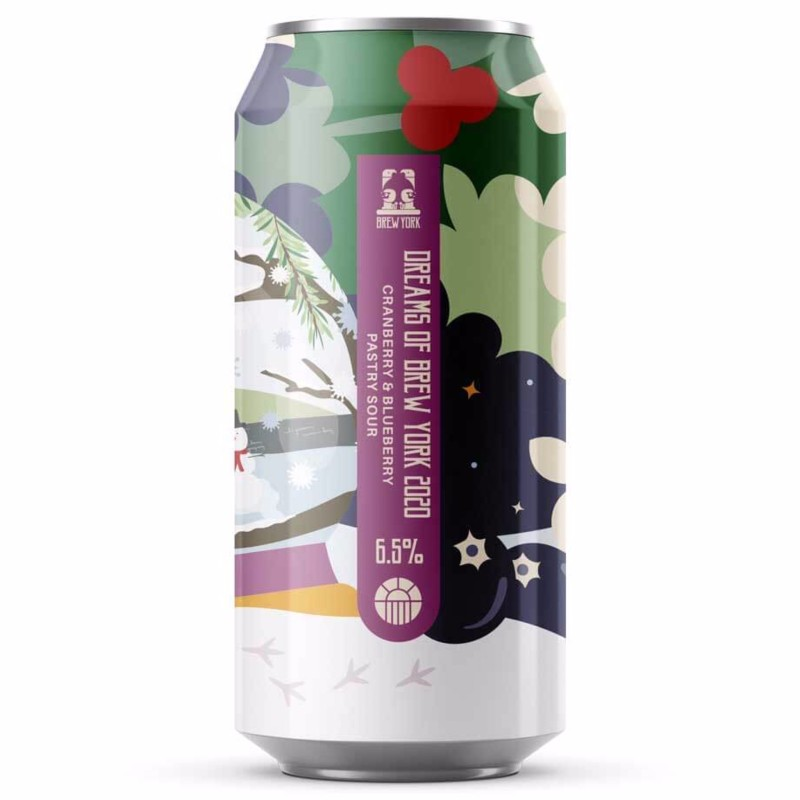 Dreams Of Brew York 2020 - Cranberry & Blueberry Pastry Sour 6.5% 440ml