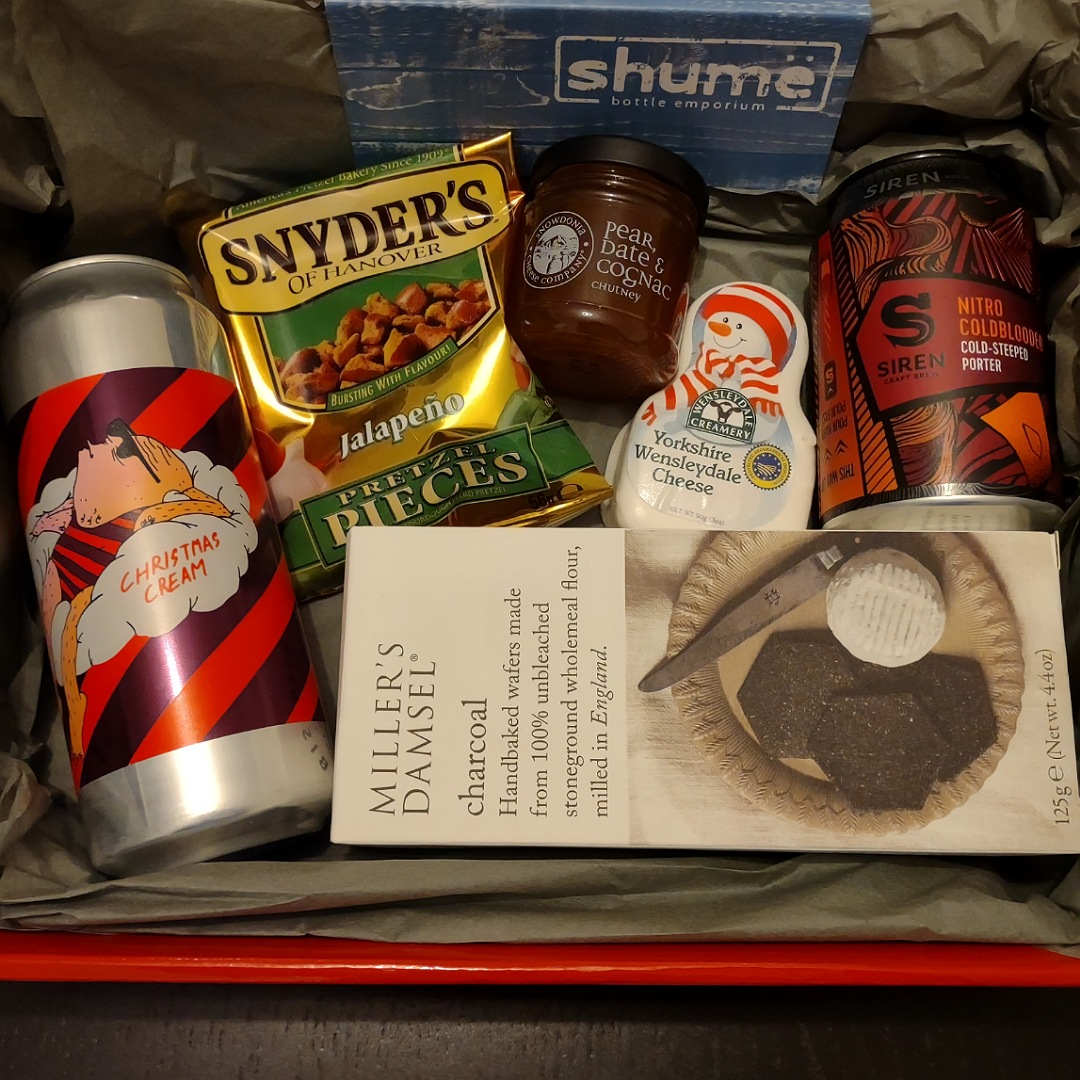 Hamper Small - Opt 1 Beers, Cheese, Crackers and Chutney