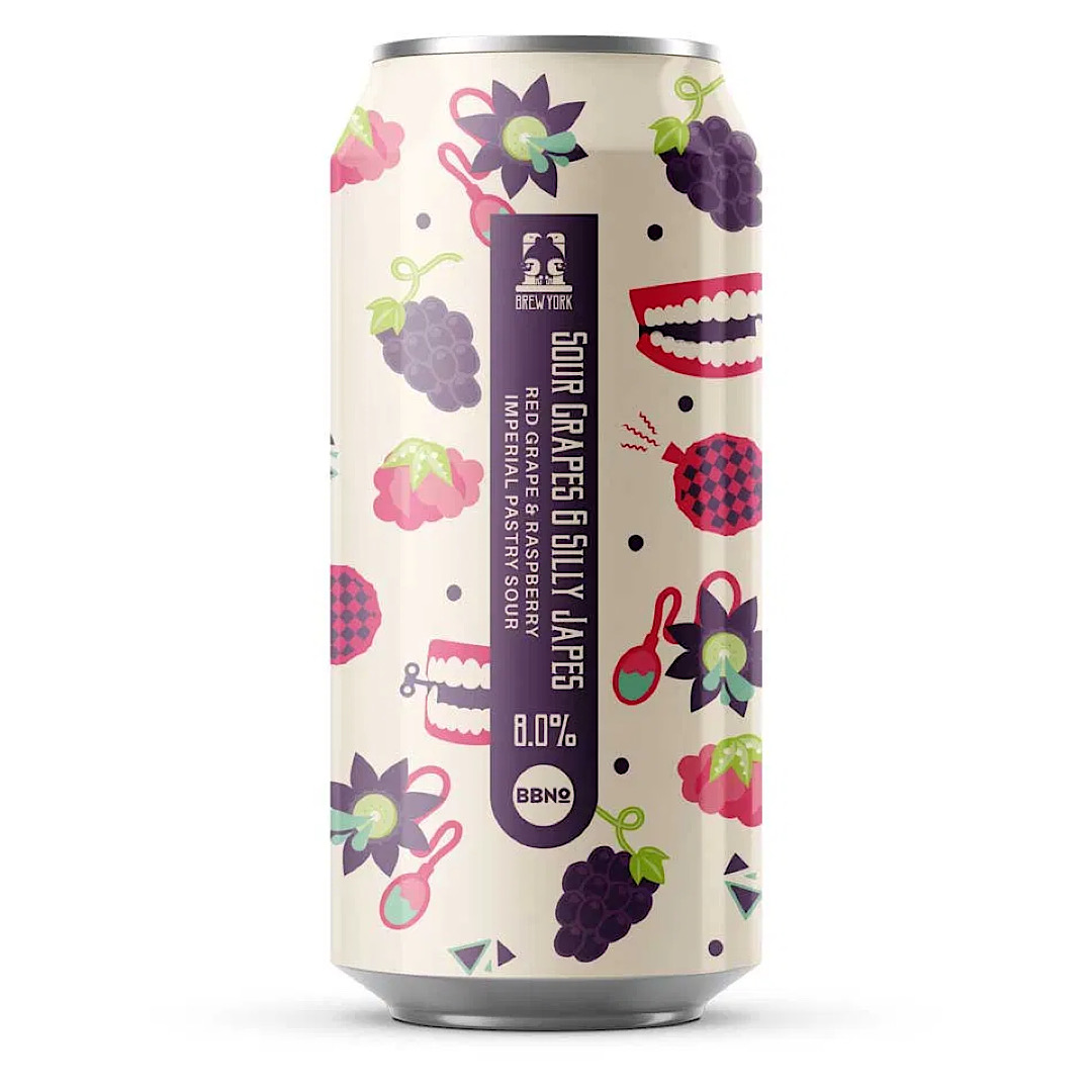 Sour Grapes & Silly Japes 8% 440ml  Red Grape & Raspberry Imperial Sour Brew York