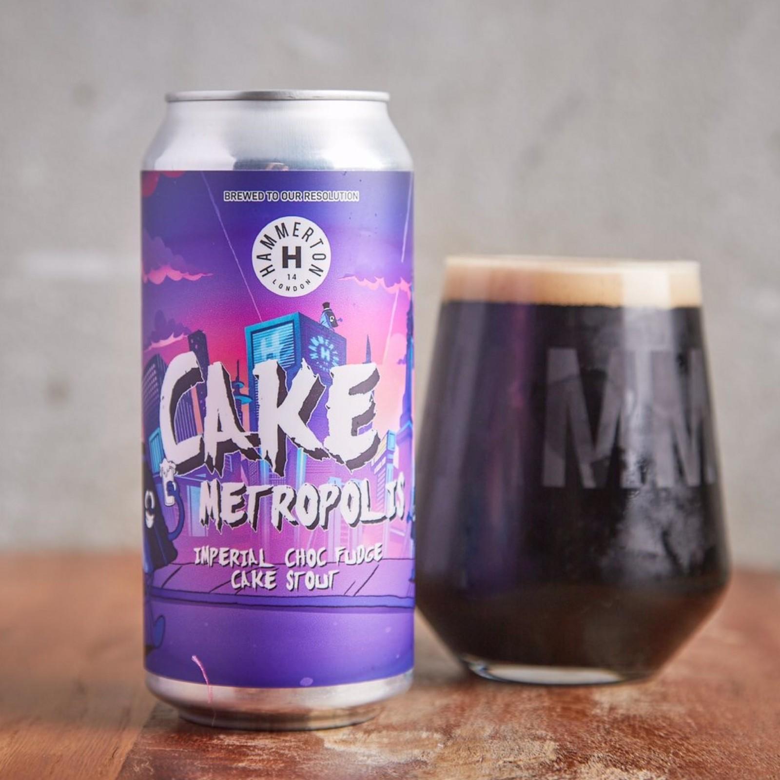 Cake Metropolis - IMPERIAL CHOC, Fudge Cake Stout 11% 440ml Hammerton Brewery