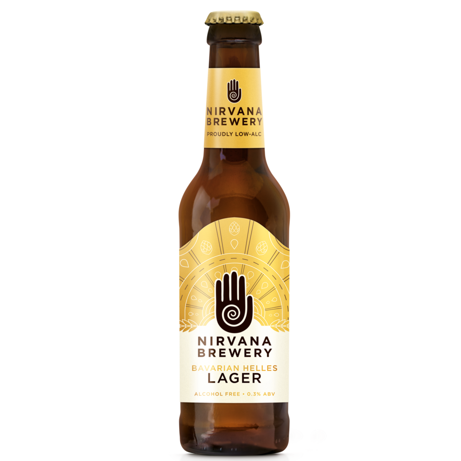 Bavarian Helles Lager 0.3% 330ml Nirvana Brewery