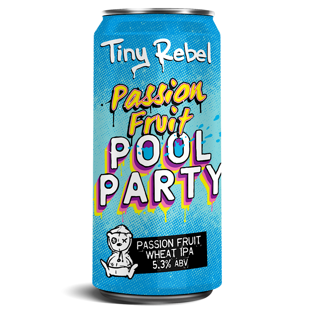 POOL PARTY - Passion Fruit Wheat IPA 5.3% 440ml Tiny Rebel