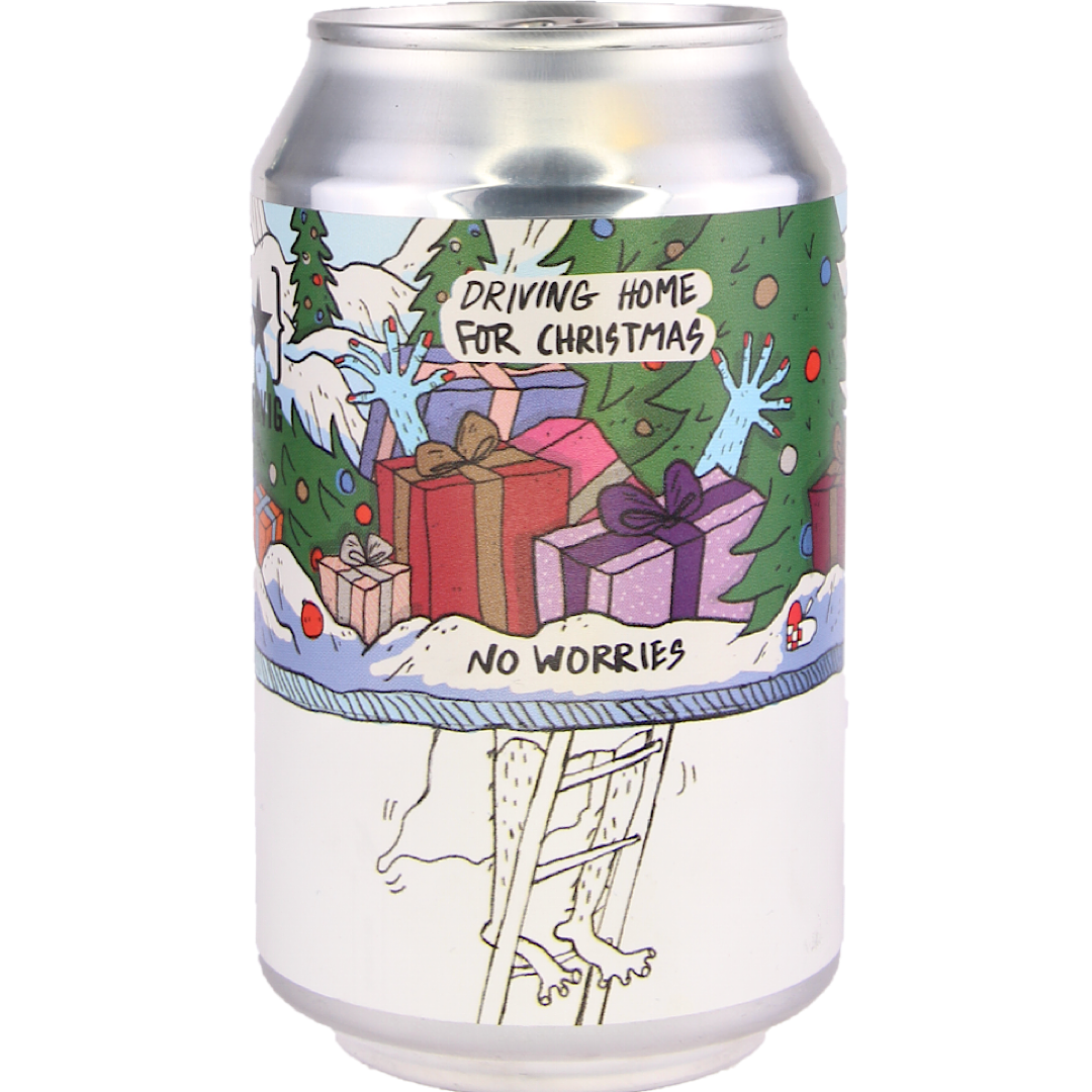 No Worries - Driving Home for Xmas 0.5% 330ml Lervig Brewing