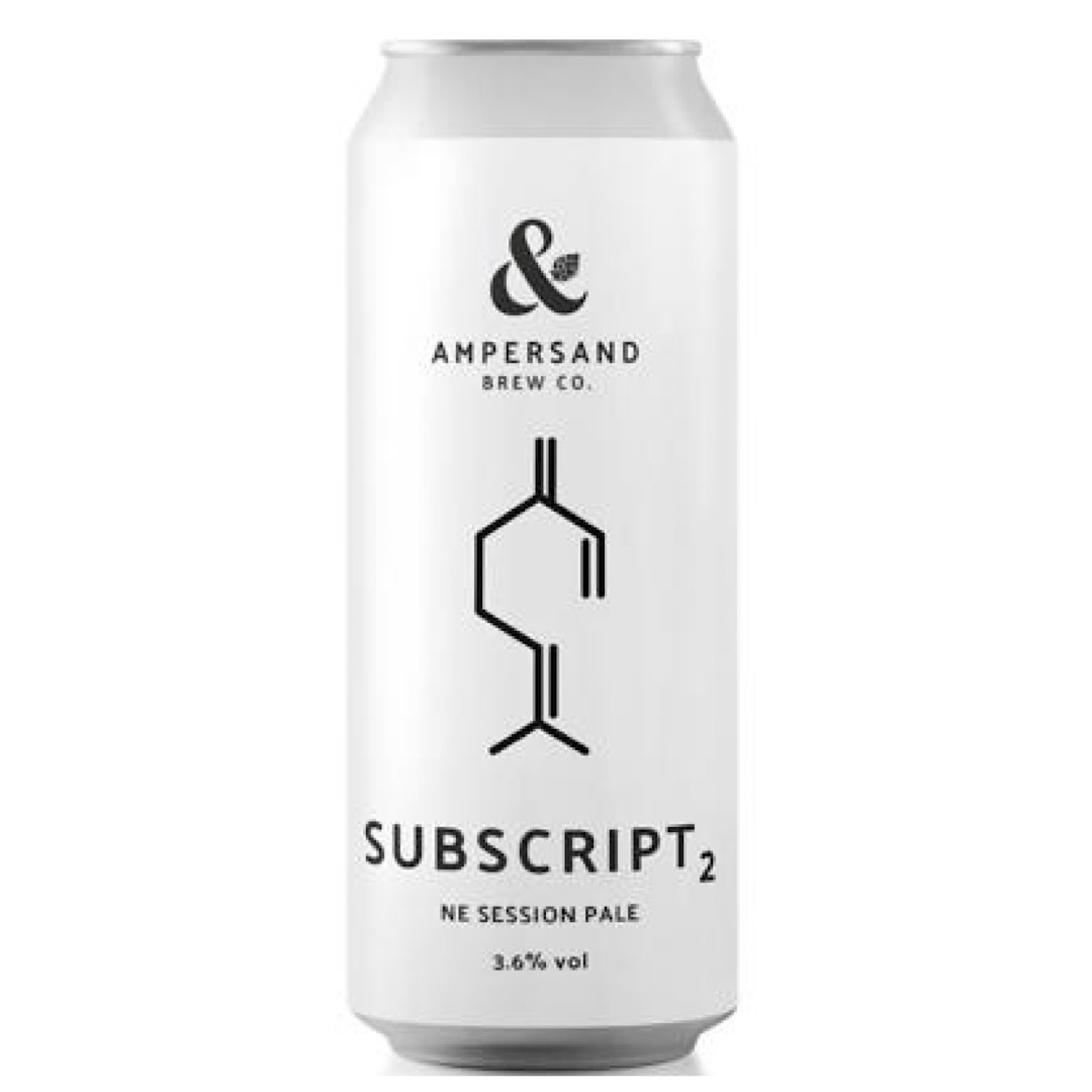 SUBSCRIPT 2 - NE Session Pale 3.6% 440ml Ampersand Brew co
