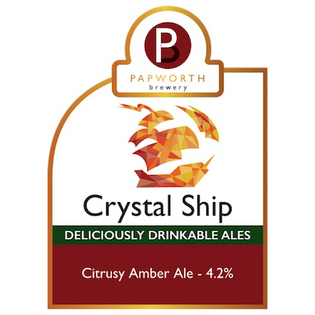 Crystal Ship - Citrusy Amber Ale 4.2% 500ml Papworth Brewery