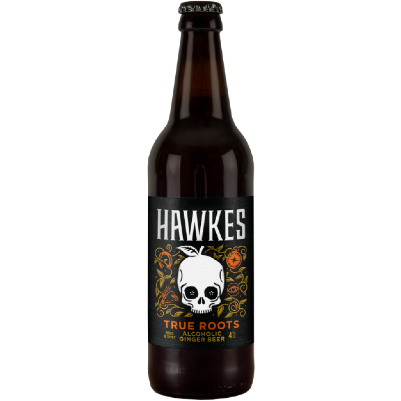 True Roots Ginger Beer 4% 500ml Hawkes