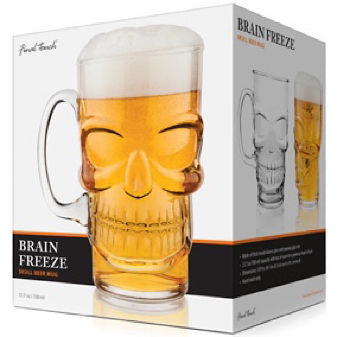 Skull Beer Mug 700ml Brain Freeze