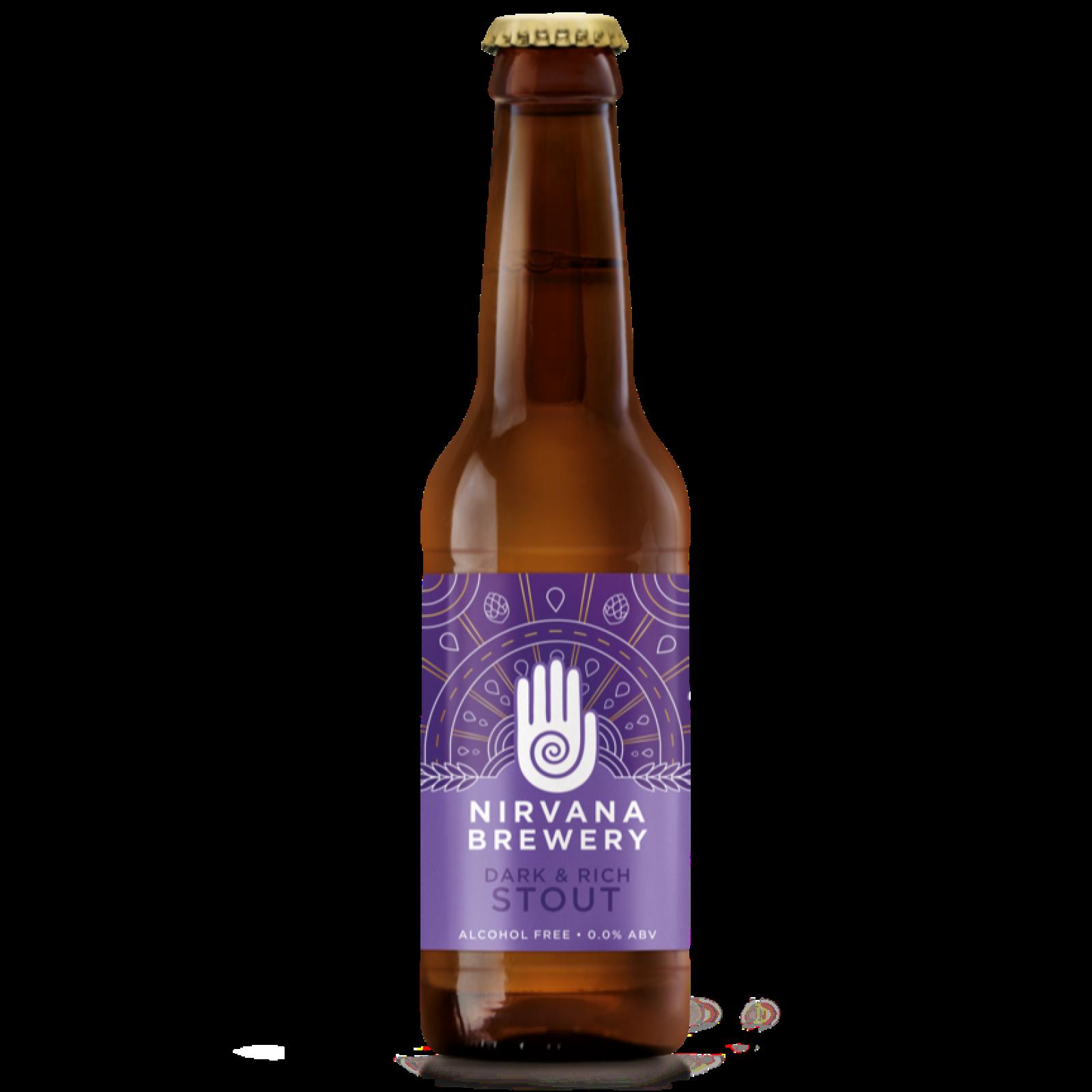 Dark & Rich STOUT 0% 330ml Gluten Free Nirvana Brewery