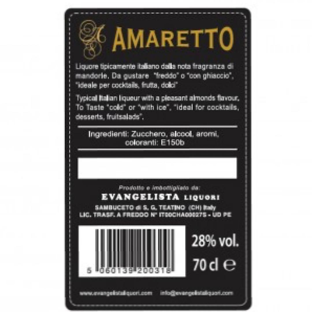 Amaretto - Italian almond liqueur  28% 700ml Evangelista Liquori