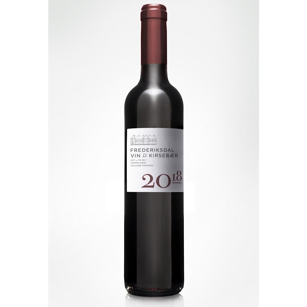 Vintage 2018 - Sweet Cherry Wine 14%  500ml Frederiksdal Kirsebærvin