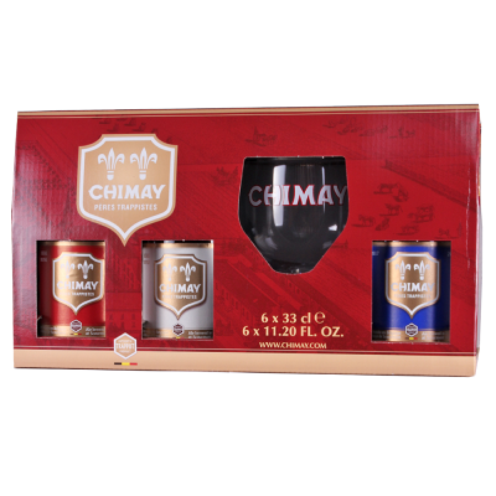 Chimay Gift Pack 6x330ml with Glass