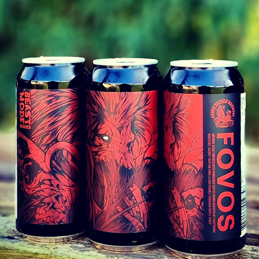 FOVOS - Imperial Stout with Coffee, Vanilla & Maple Syrup 12% 440ml Seven Island Brewery