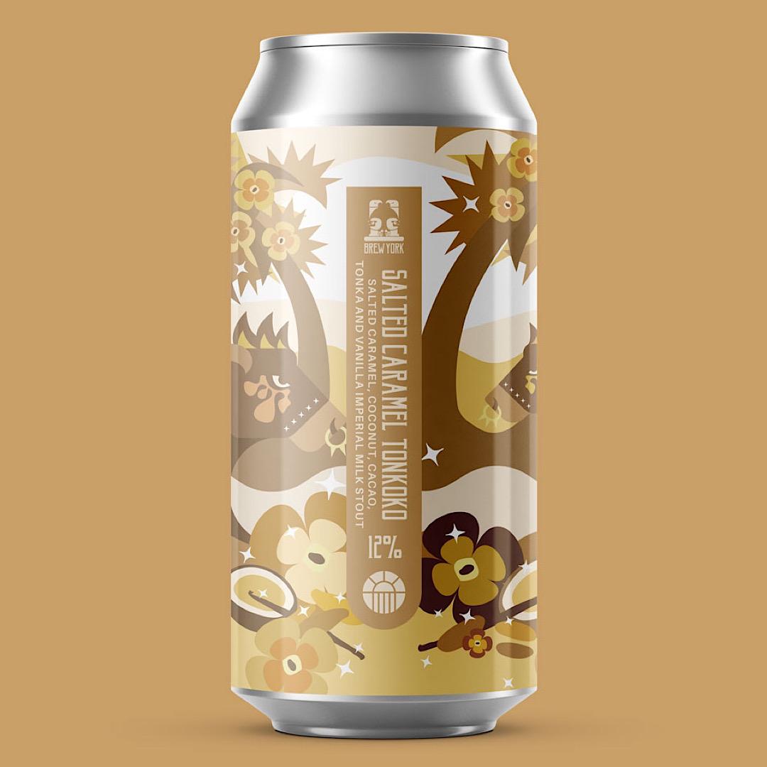Salted Caramel Tonkoko - Salted Caramel, Coconut, Cacao, Tonka and Vanilla Imperial Milk Stout 12% 440ml Brew York