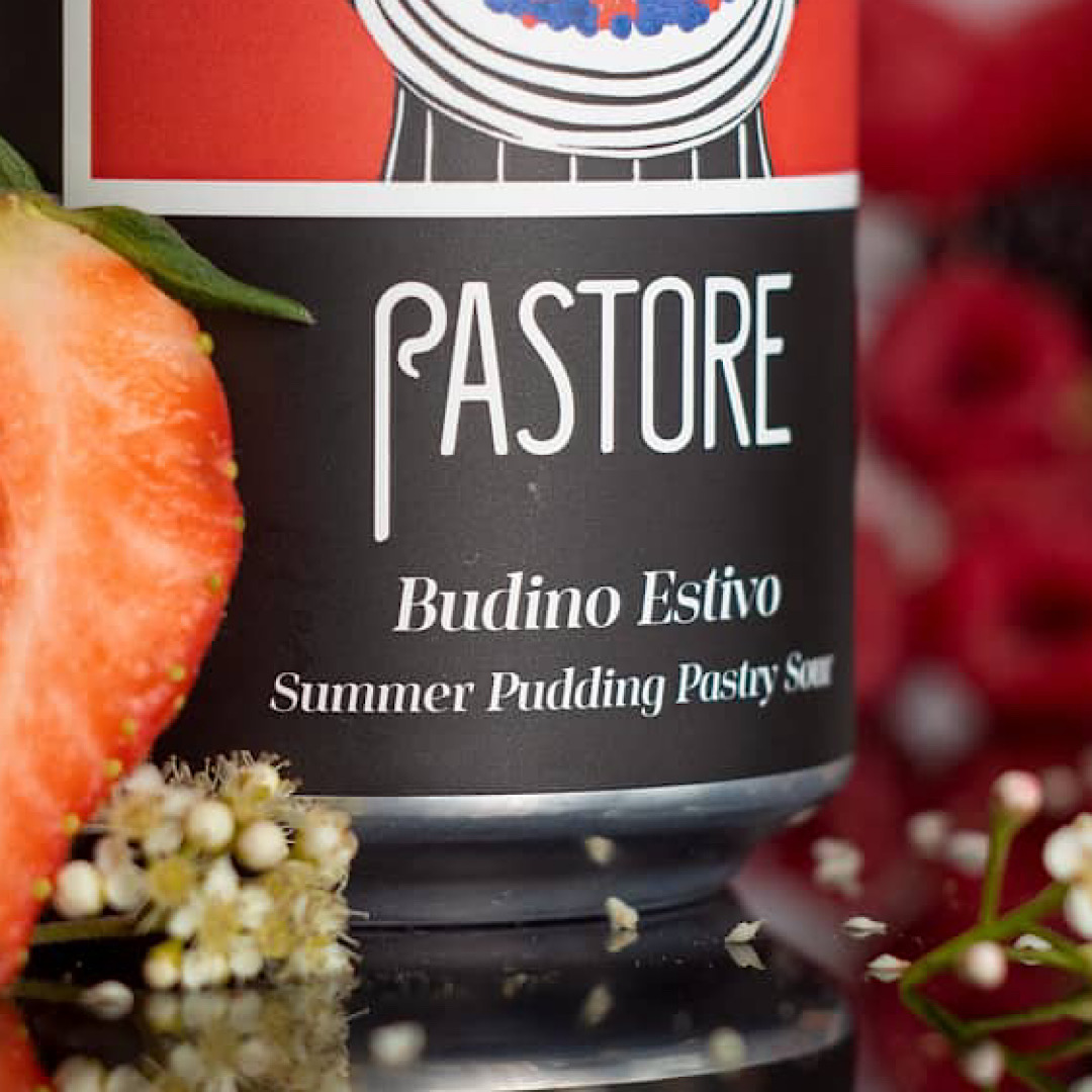 Budino Estivo -  A summer pudding pastry sour with raspberry, strawberry, blackberry, redcurrant and vanilla 6.0% 440ml Pastore Brewing & Blending