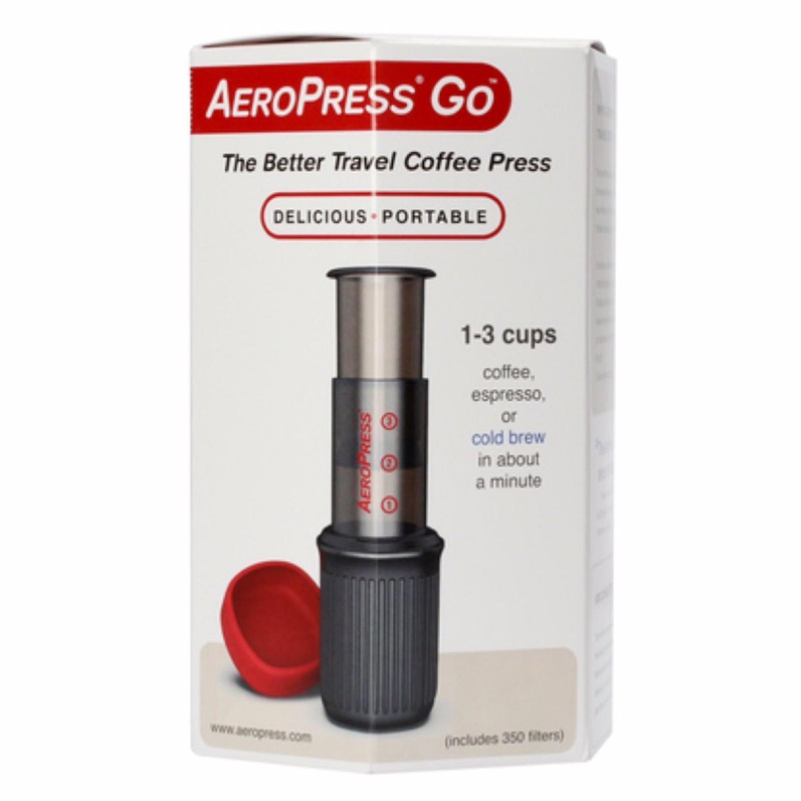 AeroPress Go Coffee Maker + 350 filters