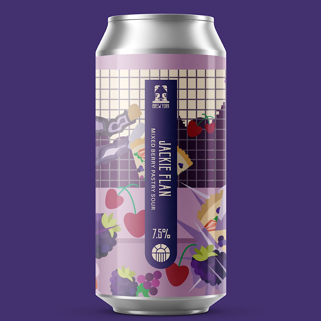 Jackie Flan - Mixed Berry Pastry Sour 7.5% 440ml Brew York