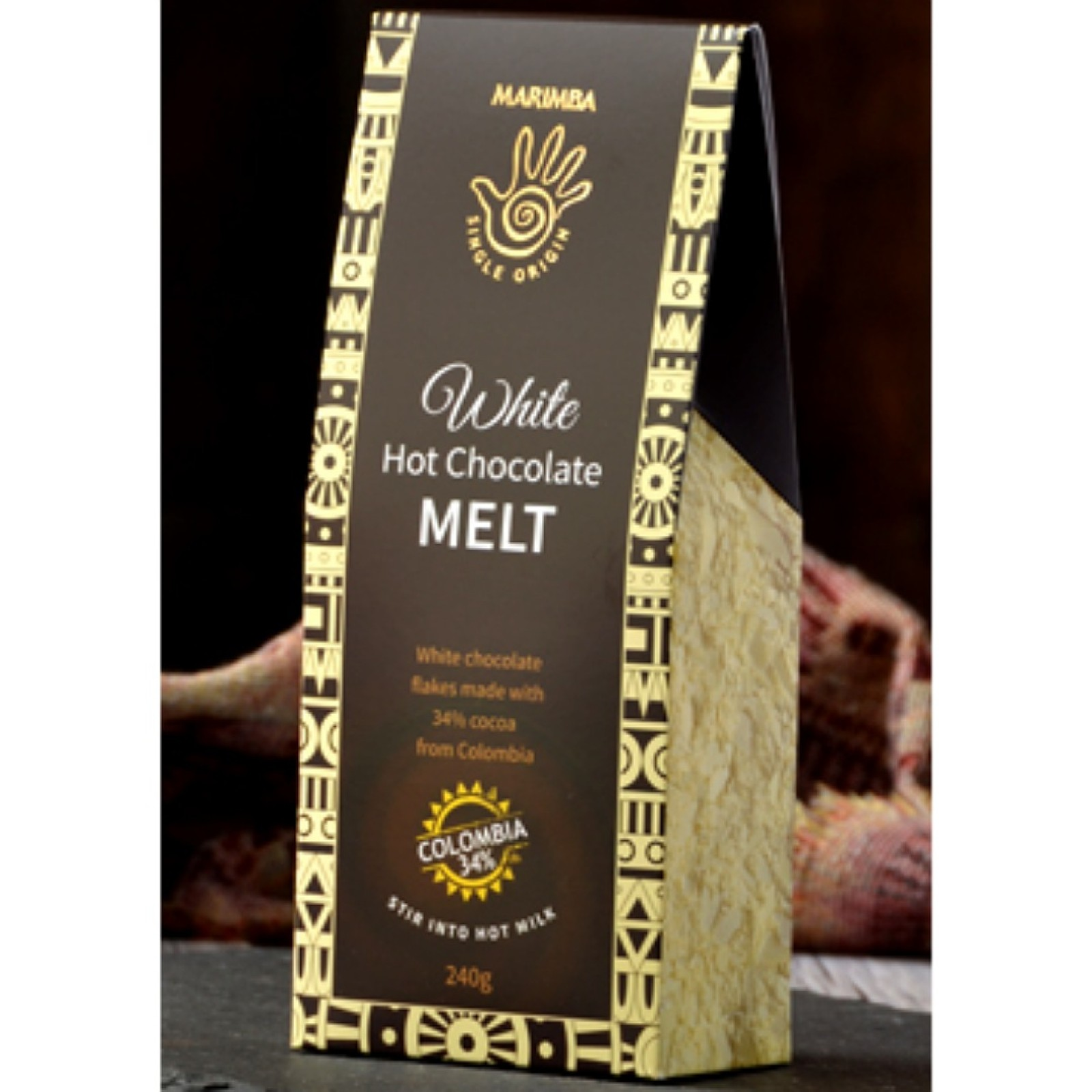 Colombia White 34% Hot Chocolate Melt carton - 240g