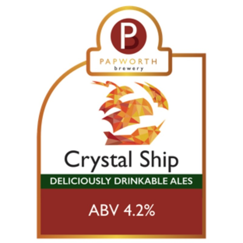 Crystal Ship - Citrus Amber Ale 4.2% 500ml Papworth Brewery