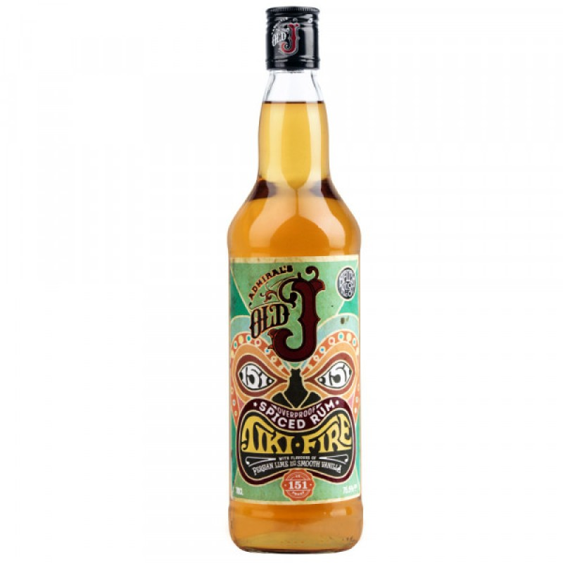 Old J Tiki Fire 75.5% 700ml Overproof Rum