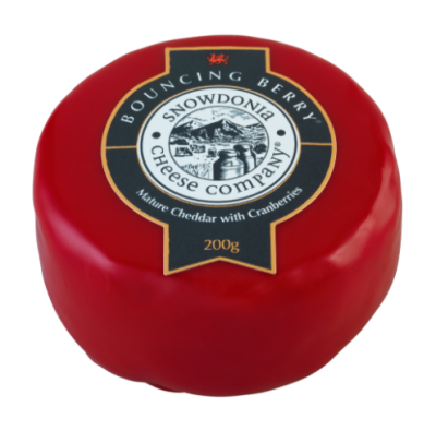 Bouncing Berry Mature Cheddar with Cranberries 200g Snowdonia Cheese Co