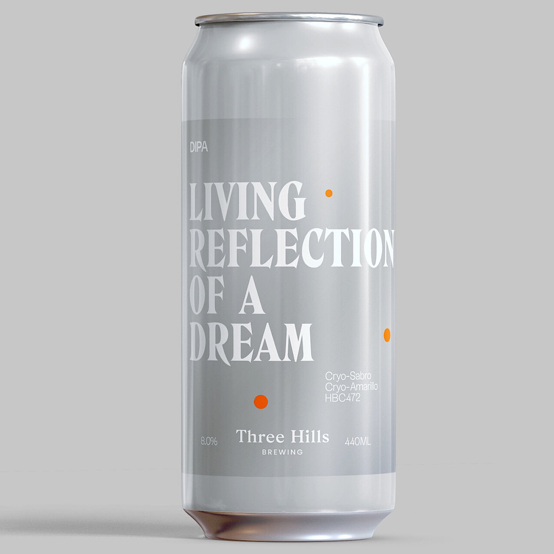 LIVING REFLECTION OF A DREAM: DIPA 8% 440ml Three Hills Brewing