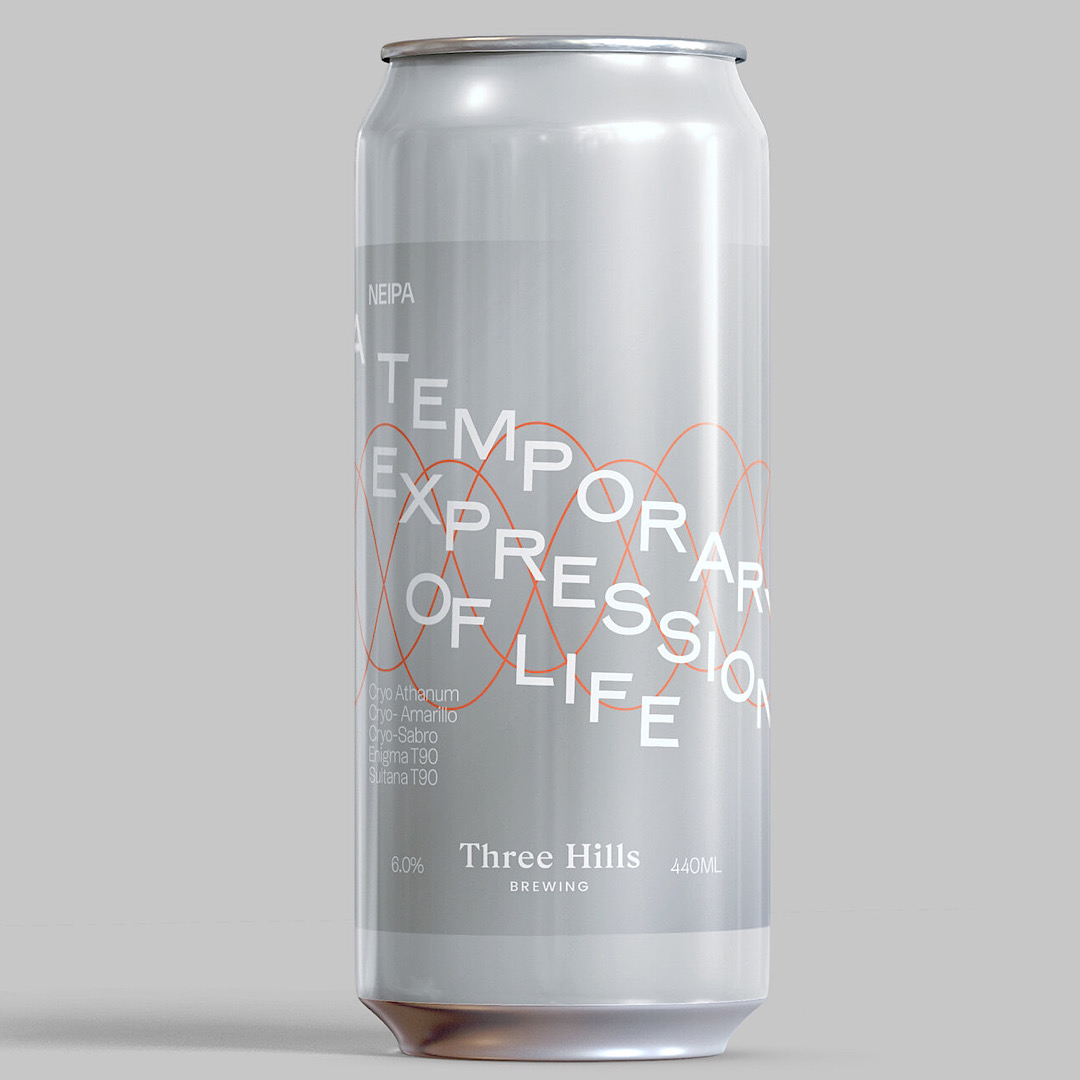 A TEMPORARY EXPRESSION OF LIFE: NEIPA 6% 440ml Three Hills Brewing