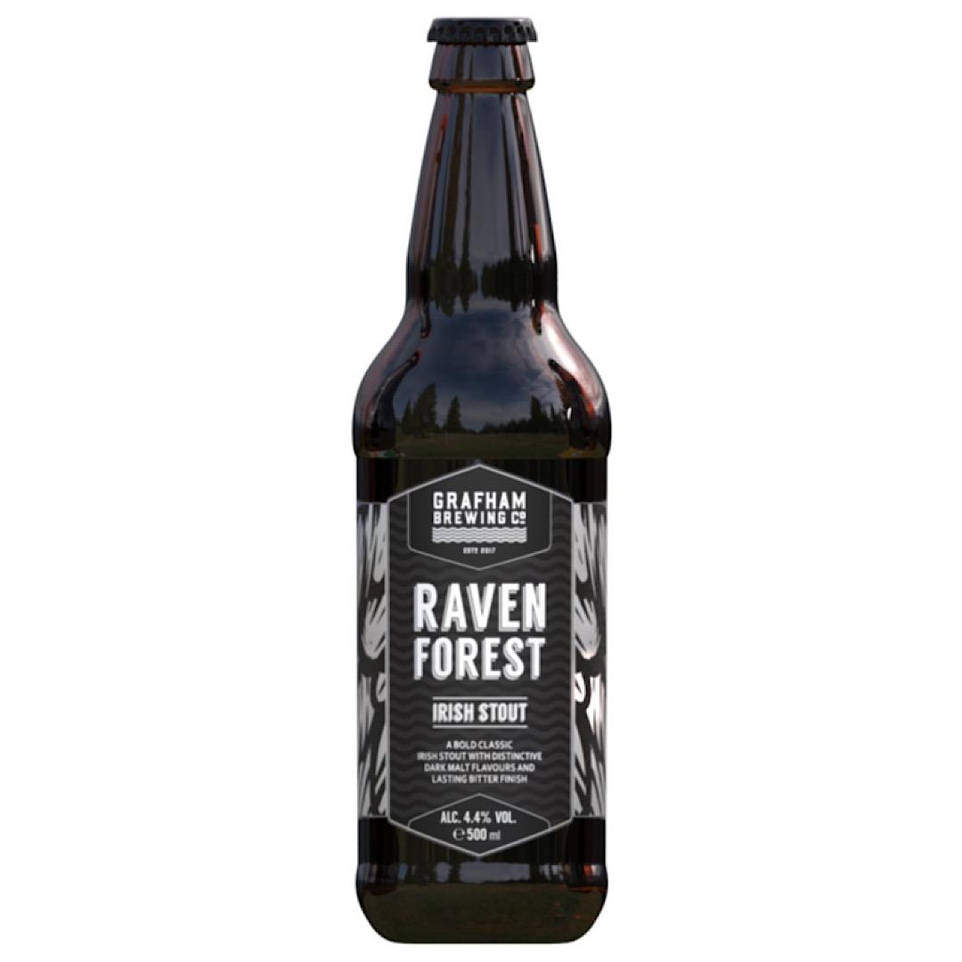 Raven Forest - Irish Stout 4.4% 500ml Grafham Brewing Co