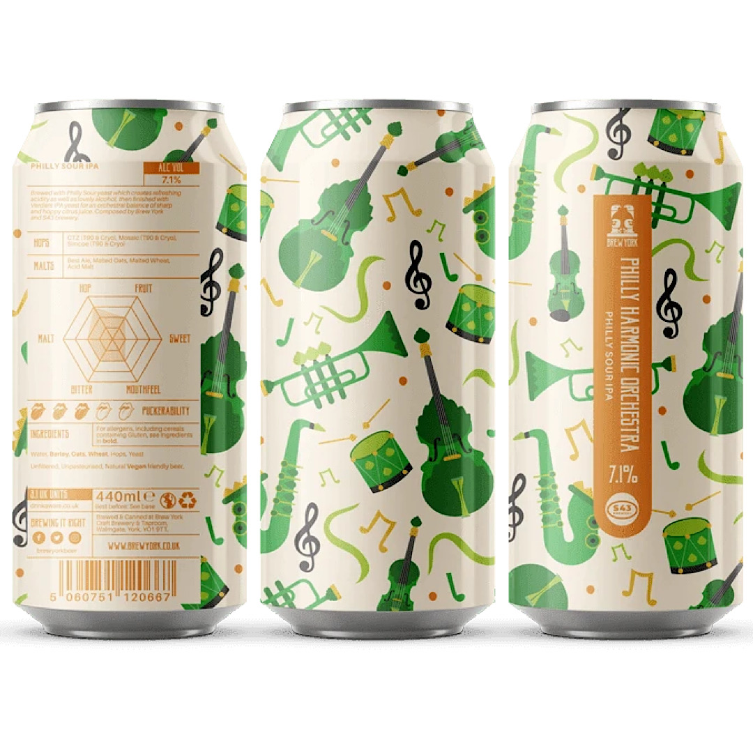 Philly Harmonic Orchestra - Philly Sour IPA 7.1% 440ml Brew York