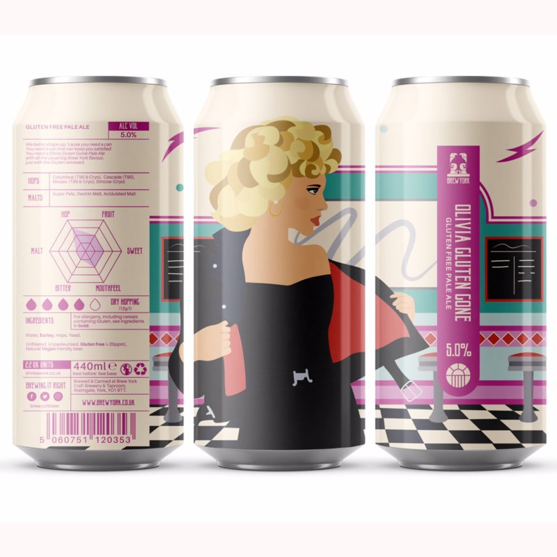 Olivia Gluten Gone GF Pale Ale 5% 440ml Brew York