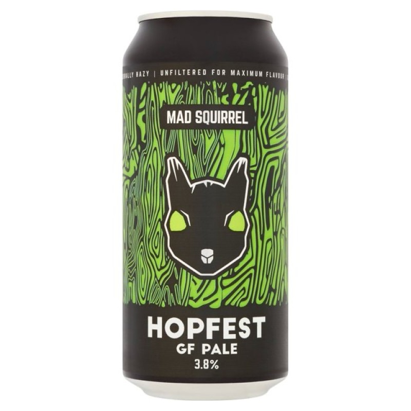 Hopfest Gluten Free Pale Ale 3.8% 440ml Mad Squirrel Brewing