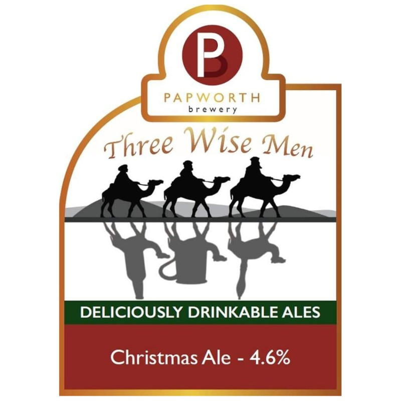 Three Wise Men - Christmas Ale 4.6% 500ml Papworth Brewery