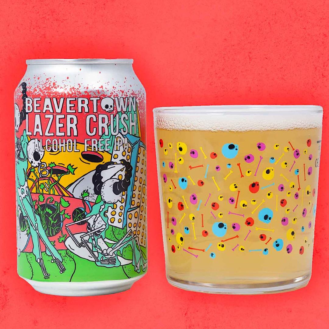 Lazer Crush - Alcohol Free IPA 0.3% 330ml Beavertown Brewery