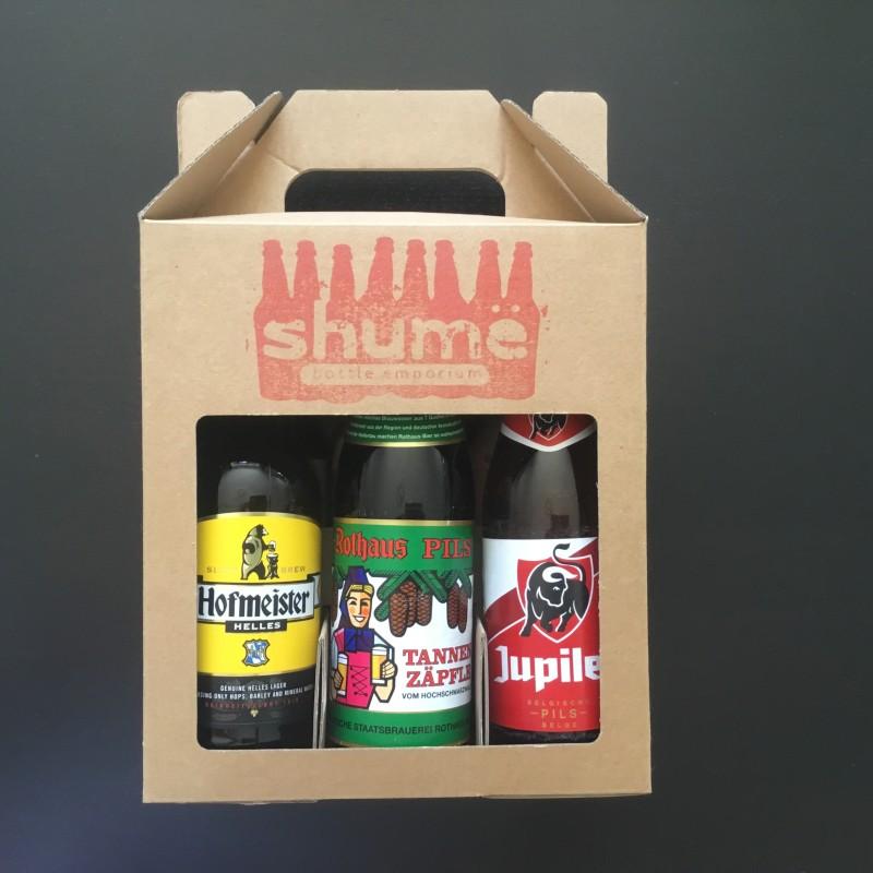 Lager Gift Box (3 Bottles vs 3 Cans)