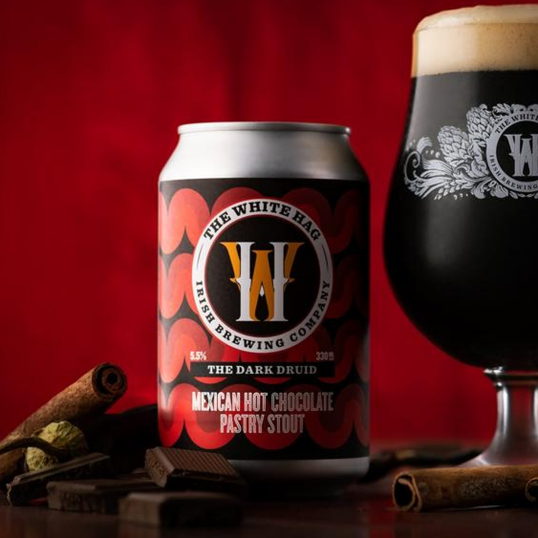 The Dark Druid - Mexican Hot Chocolate Pastry Stout 5.5% 330ml The White Hag Brewing