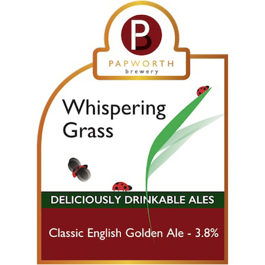 Whispering Grass - Golden Ale 3.8% 500ml Papworth Brewery